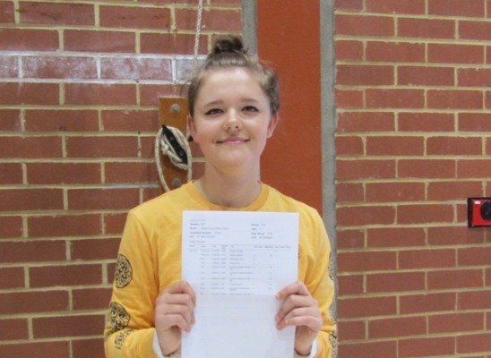 GCSE results 2019 Jessie Smith 6 grade 9s and 4 grade 7s