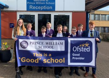 Prince William School is rated 'Good' by Ofsted